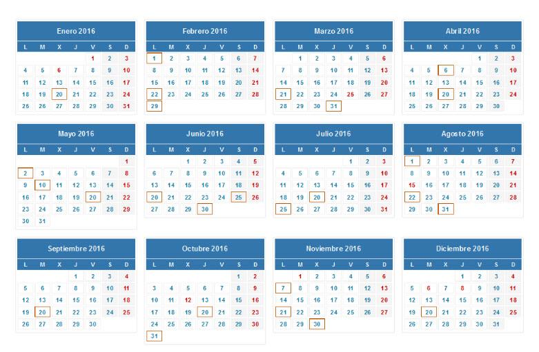 calendario irpf 2016